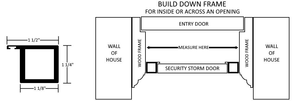 Build Down Frame