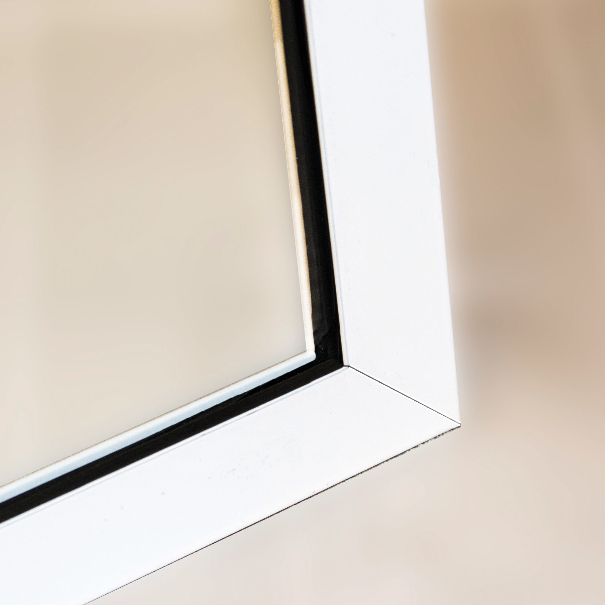 Features glass frame